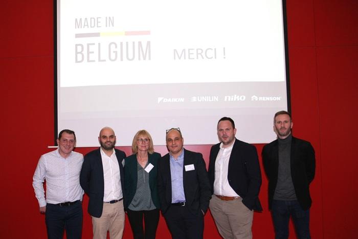 L'équipe UNILIN dans l'évènement Made In Belgium