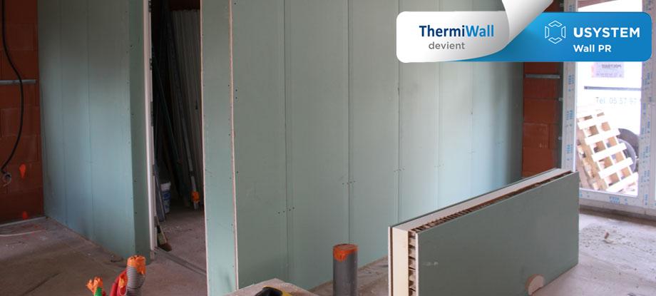Pose de la solution ThermiWall pour une cloison séparative isolante - Isolation des murs