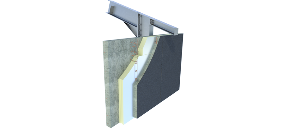 Insulation plate for concrete walls